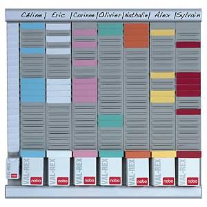 Planning Nobo Office Planner pour fiches T - 7 colonnes - 48 x 48 cm