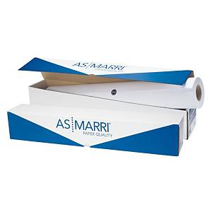 Rotolo carta plotter opaca bianca AS MARRI 90 g/mq 91,4 cm x 50 m
