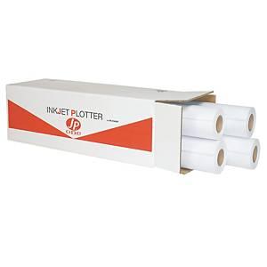 Rotolo carta plotter opaca bianca AS MARRI Jp one 90 g/mq 42 cm x 50 m - conf. 2
