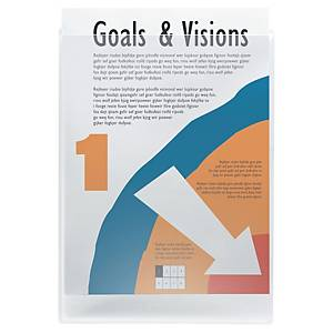Self-Adhesive A4 Ring Binder Pockets Top Opening Without Flap - Pack Of 10
