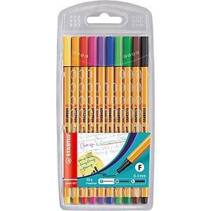 Stabilo Point 88 Fineliner Asst - Pack Of 10
