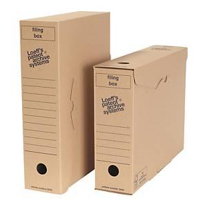 Boîtes d'archives Loeff s Patent Filingbox folio, dos 8cm, carton ondulé, les 50