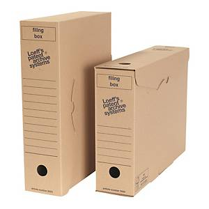 Loeff s Patent Filing box archiefdozen folio golfkarton 26x34,3x8,5cm - pak 50