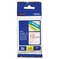 Ruban d étiqueteuse Brother P-touch TZE-232, 12 mm x 8 m, laminé, rouge/blanc