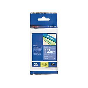 Brother TZE Labelling Tape 8m X 12mm White/Blue