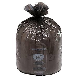 Sac poubelle pour conteneurs - 240 L - 25 microns - noir - 200 sacs
