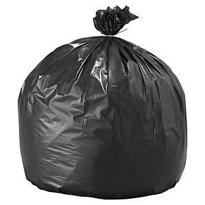 Sac poubelle pour déchets lourds - 130 L - 55 microns - gris - 100 sacs