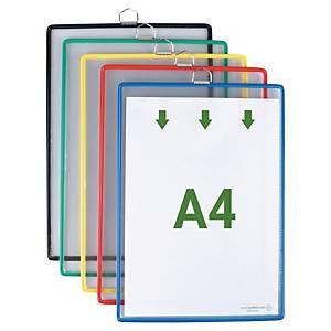 Hängetafel Tarifold Individual mit Aufhänge-Öse A4 farbig sortiert 5 Stück