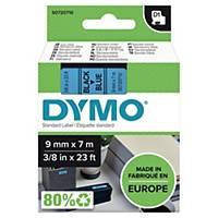 Taśma DYMO do drukowania etykiet 9 mm, kolor druku/tła: czarny/niebieska