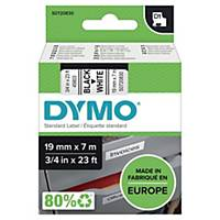 Ruban Dymo D1 - 19 mm - noir sur blanc