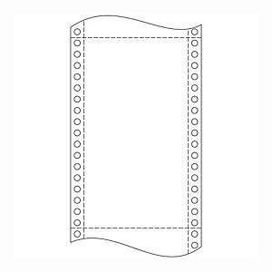 Papír tűs nyomtatókba, 24 x 30,5 cm, 60 g/m², 1 + 0 réteg