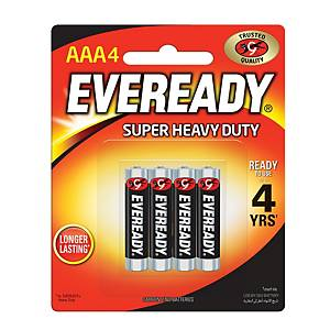 Eveready Super Heavy Duty Battery AAA - Pack of 4