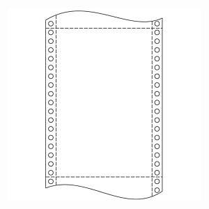 Papír do jehličkových tiskáren 54 g/m2, 1+1 vrstev, šířka 240 mm, balení 1000 ks
