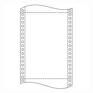Papír tűs nyomtatókba, 54 g/m², 1 + 1 réteg, 240 mm x 12 , 1 000 ív/karton