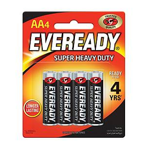 Eveready Super Heavy Duty Battery AA - Pack of 4