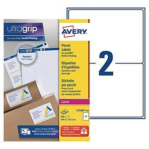 Etiquette expédition Avery - L7168-100 - 199,6 x 143,5 mm - blanche - par 200