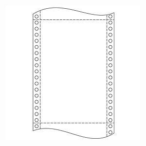 Papír tűs nyomtatókba, 24 x 30,5 cm, 54 g/m², 1 + 2 réteg