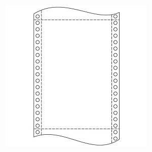 Papír tűs nyomtatókba, 24 x 30,5 cm, 54 g/m², 1 + 3 réteg