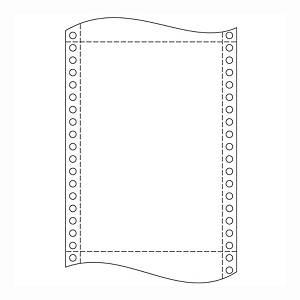 Papír tűs nyomtatókba, 60 g/m², 1 + 0 réteg, 250 mm x 12 , 2 000 ív/karton