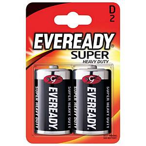 Eveready Battery D Pk2