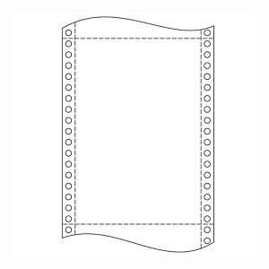 Papír tűs nyomtatókba, 54 + 54 g/m², 1 + 1 réteg, 250 mm x 12 , 1 000 ív/karton