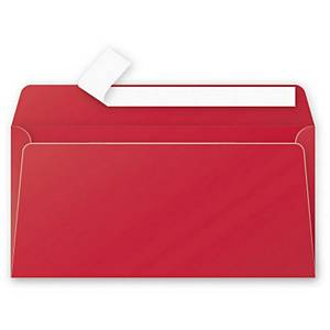 Clairefontaine Pollen Envelope DL Red - Pack Of 20