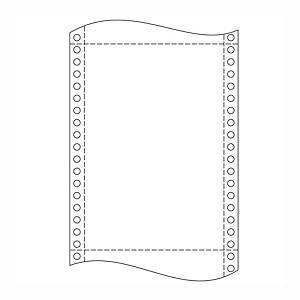 Papír tűs nyomtatókba, 25 x 30,5 cm, 54 g/m², 1 + 2 réteg