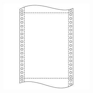 Papír tűs nyomtatókba, 25 x 30,5 cm, 54 g/m², 1 + 3 réteg