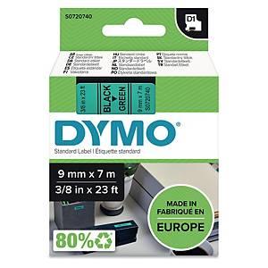 Schriftband Dymo D1 40919, Breite: 9mm, schwarz auf grün