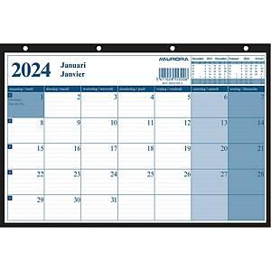 Planificateur mensuel Aurora Monthly, bilingue NL et FR