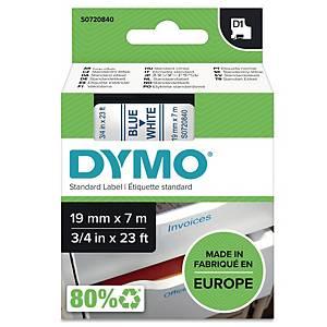 Schriftband Dymo D1 45804, Breite: 19mm, blau auf weiß