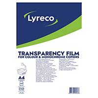 Lyreco transparancy film/slides with strip - box of 100