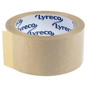 Ruban adhésif d emballage PVC Lyreco - 50 mm x 66 m - havane - lot de 6