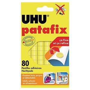 Pastille adhésive Uhu Patafix - jaune - étui de 80