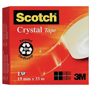 Scotch Crystal Clear 600 Tape 19mmx33M
