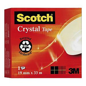 Tape Scotch Crystal 600, 19 mm x 33 m
