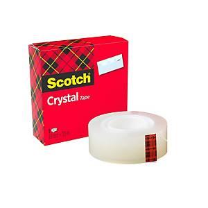 Cinta adhesiva transparente Scotch Crystal - 19mmx33m