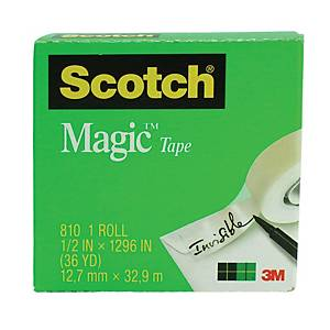 Scotch 810 Magic Tape 0.5 Inch x 36yd