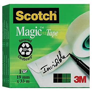 Klebefilm Scotch Magic M8101933, 19 mm x 33 m, matt, 1 Rolle Klebeband