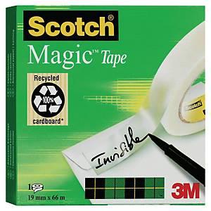Scotch Magic 810 unsichtbarer Klebefim, 19 mm x 66 m