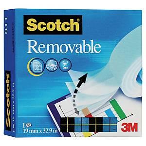 Scotch Magic Ii Removable Sticky Tape - 19Mm X 33M Roll