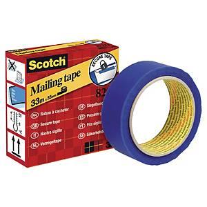 Ruban à cacheter Scotch Sigil 820, 35 mm x 33 m, bleu