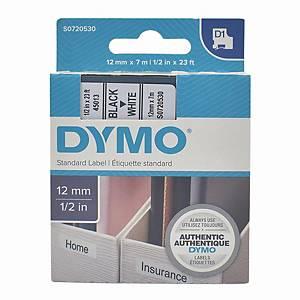 Dymo 45013 D1 Tape 12mm x 7m Black on White