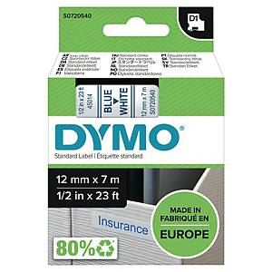 Cinta Dymo D1 - 12 mm - poliéster - texto azul/fondo blanco