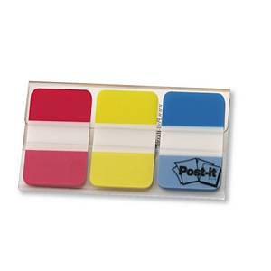 Marque-pages Post-it onglets rigides - coloris assortis - 3 x 22 feuilles