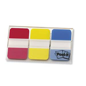 3M Post-It Strong Neon Red Yellow and Blue Index Pack of 66