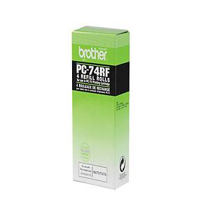 Brother PC74RF Original Ink Film Ribbon Fax Refills - Pack of 4