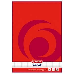 Blok Herlitz, A4, poznámkový, čtverečkovaný, 100 stran
