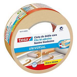 Nastro biadesivo resistente universale Tesa L 25 m x H 50 mm