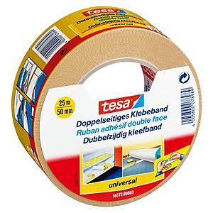Tesa® dubbelzijdige tape, B 50 mm x L 25 m, per rol plakband